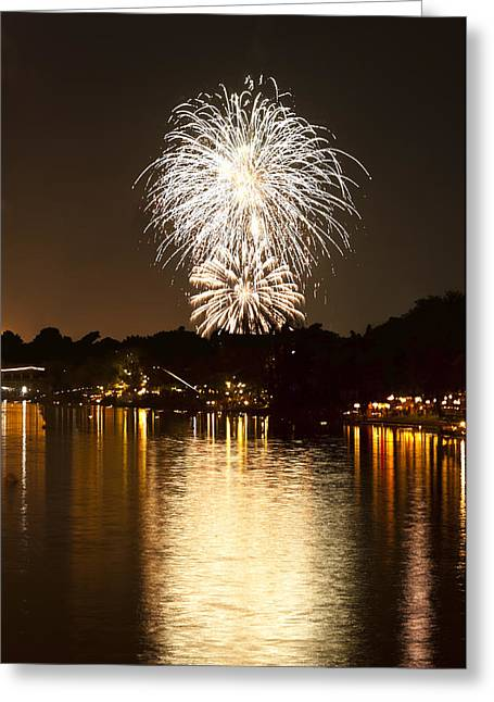 Pyrotechnics Greeting Cards - Fireworks Greeting Card by Ulrich Schade