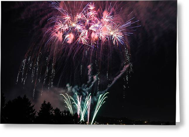 Independance Greeting Cards - Fireworks1 Greeting Card by Taylor Gibeault