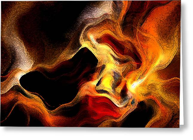 Irregular Greeting Cards - Firey Greeting Card by Ruth Palmer