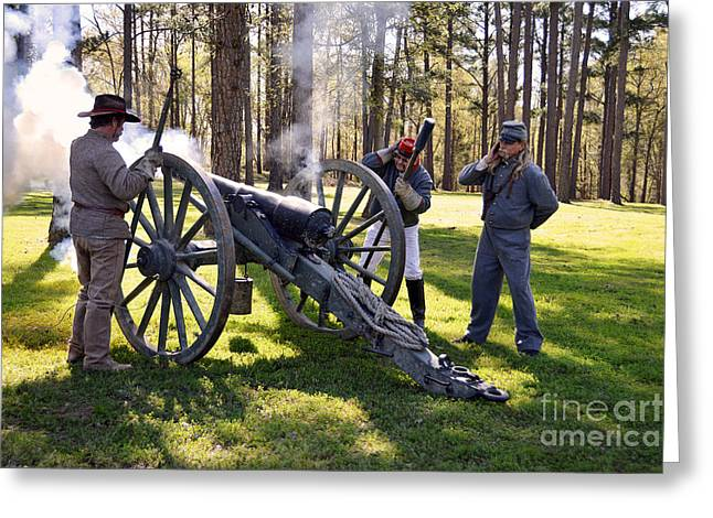 Division Greeting Cards - Firing the Cannon Greeting Card by Catherine Sherman