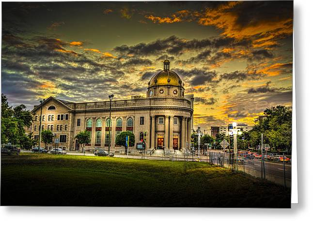 First Baptist Church Of Tampa Greeting Card by Marvin Spates