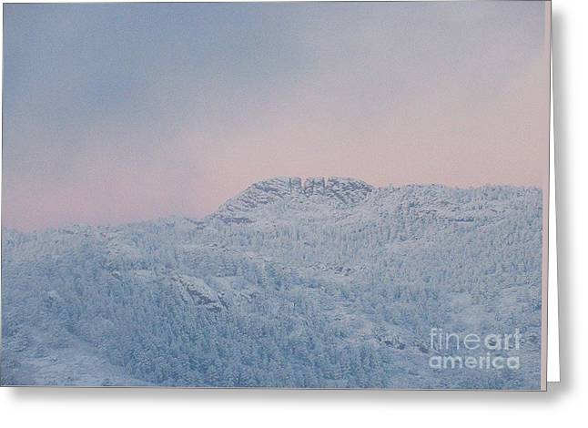 First Big Snow On Horsetooth Mountain Greeting Card by Jeffrey Birr