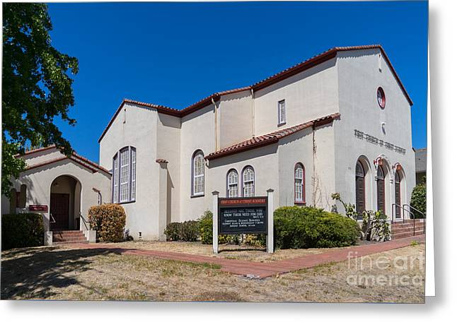 First Church Of Christ Scientist Petaluma California Usa Dsc3815 Greeting Card by Wingsdomain Art and Photography
