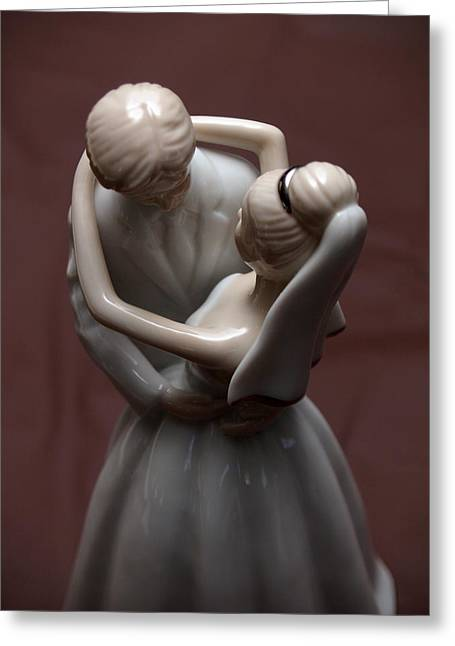 Just Married Greeting Cards - First Dance Figures Greeting Card by James Granberry