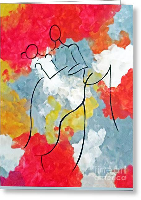 First Love Greeting Cards - First Dance Greeting Card by Jilian Cramb