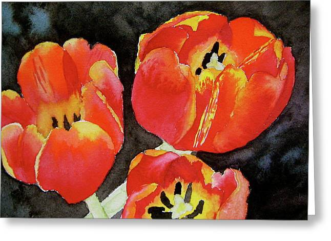 First Love Greeting Cards - First Fire Greeting Card by Beverley Harper Tinsley