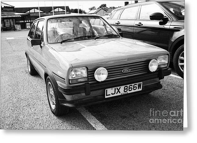 Greatest Generation Greeting Cards - First Generation Ford Fiesta Mk1 Super Sport Anglesey North Wales Uk Greeting Card by Joe Fox