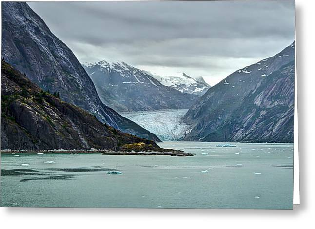 Recently Sold -  - Historical Pictures Greeting Cards - First Glance of Sawyers Glacier Greeting Card by Todd Hughes