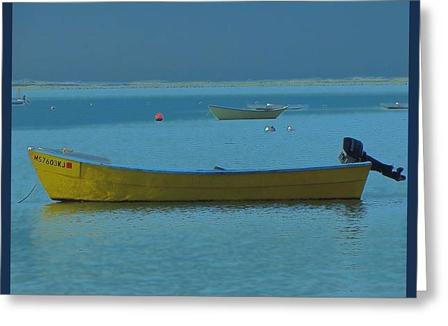 first light - Cape Cod Bay Greeting Card by Rene Crystal