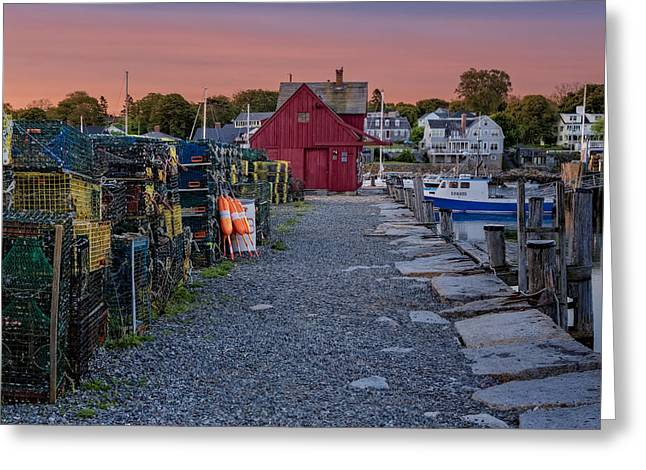 Motif Number One Greeting Cards - First Light At Motif Number One Greeting Card by Susan Candelario