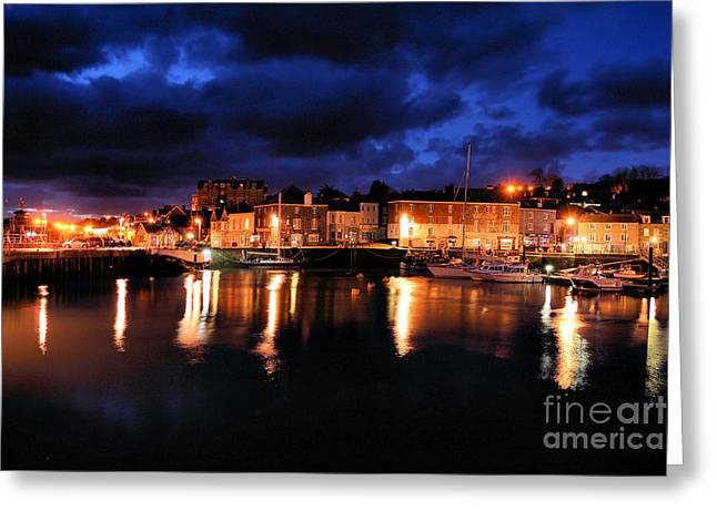 First Light At Padstow Greeting Card by Carl Whitfield