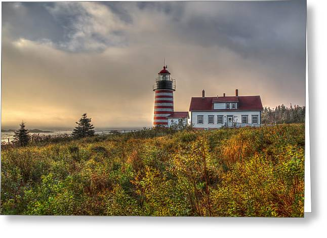 First Light At West Quoddy Greeting Card by Tom Weisbrook