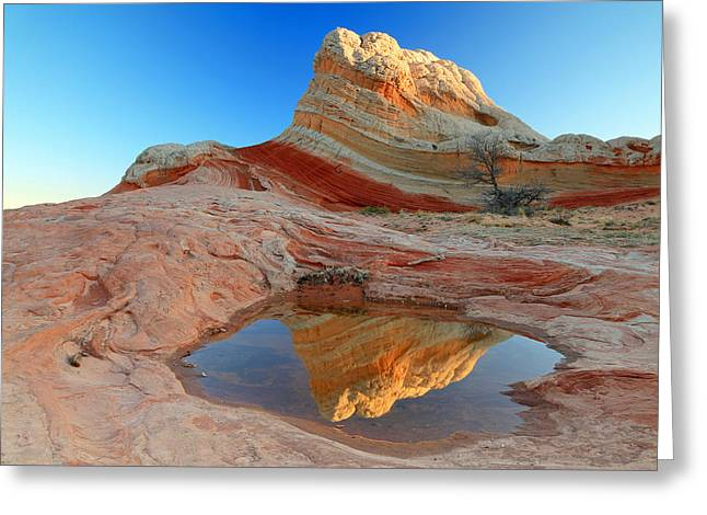 Smooth Sandstone Greeting Cards - First light at White Pocket. Greeting Card by Johnny Adolphson