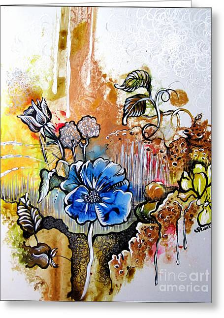 Floral Prints Greeting Cards - First Light in the garden of eden Greeting Card by Shadia Zayed