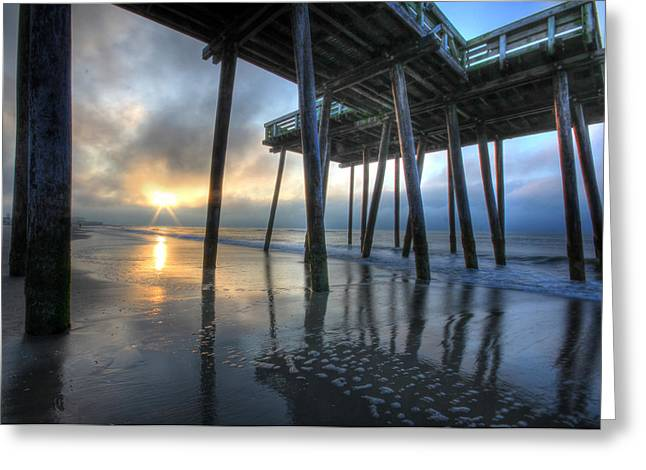 Ocean. Reflection Greeting Cards - First Light Greeting Card by Lori Deiter