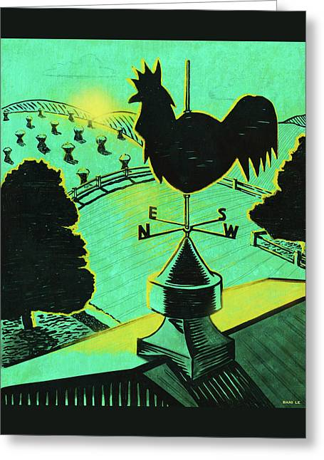 First Light On The Farm Greeting Card by Little Bunny Sunshine