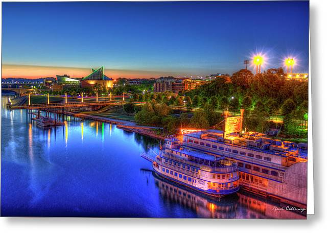 First Light Sunrise Chattanooga Tennessee Greeting Card by Reid Callaway