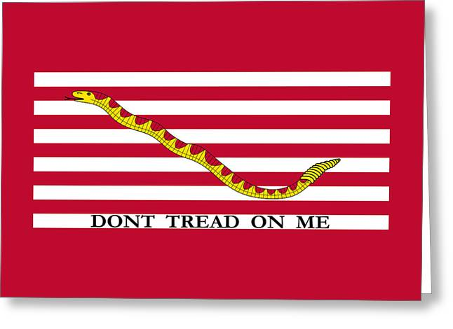 Join Or Die Greeting Cards - First Navy Jack Greeting Card by War Is Hell Store