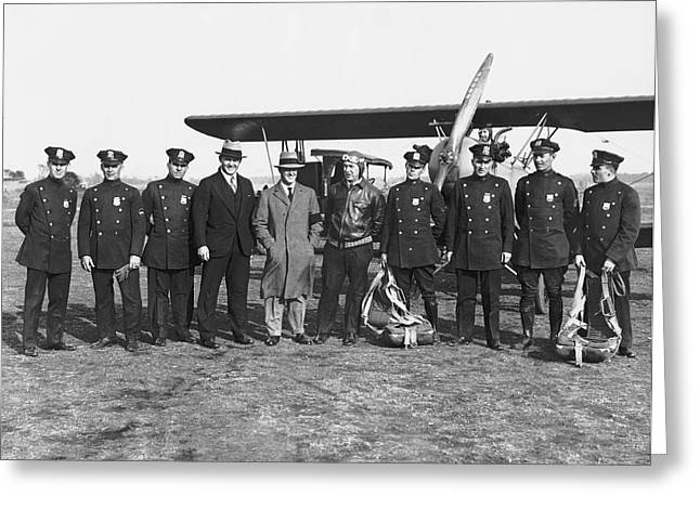 First Ny Air Traffic Squad Greeting Card by Underwood Archives