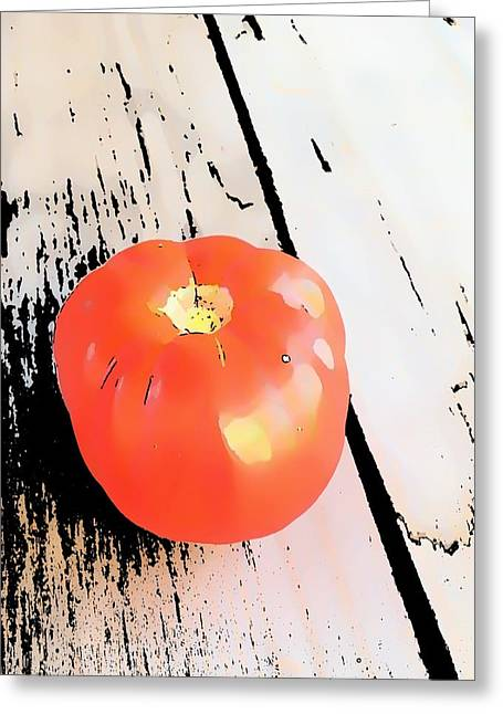 Harvest Art Greeting Cards - First of the Harvest Greeting Card by Debra Zupancic