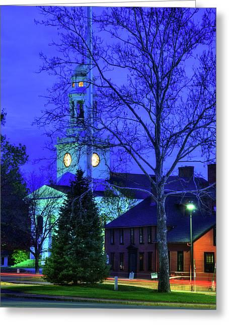 First Parish Church - Concord Ma Greeting Card by Joann Vitali