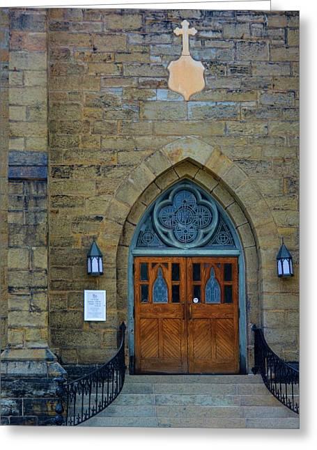 Stepping Stones Greeting Cards - Saint Marys Catholic Church Greeting Card by Richard Jenkins