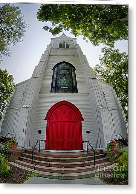 White Photographs Greeting Cards - First Presbyterian Church of Hackettstown Greeting Card by Mark Miller