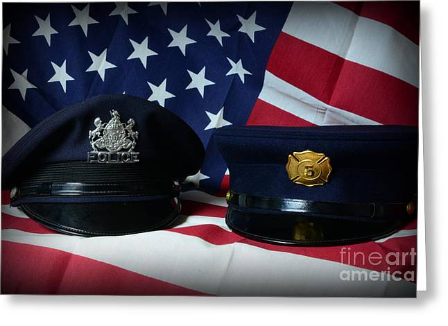 First Responders Greeting Card by Paul Ward