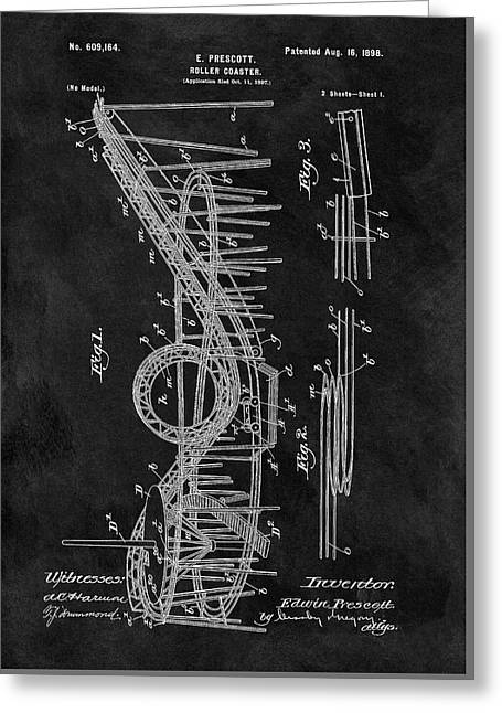 First Roller Coaster Patent Greeting Card by Dan Sproul
