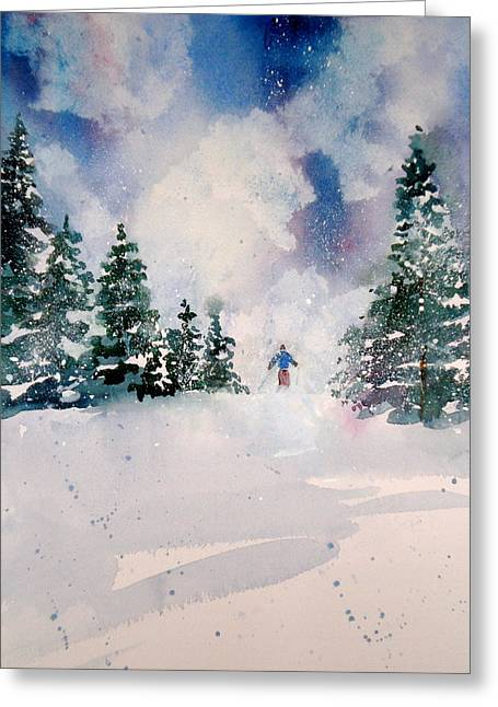 I Live Greeting Cards - First Run Greeting Card by Maurie Harrington