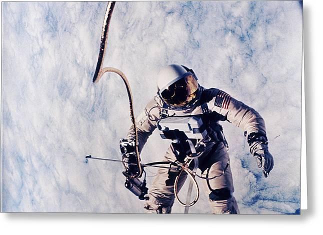 First Spacewalk Greeting Card by NASA