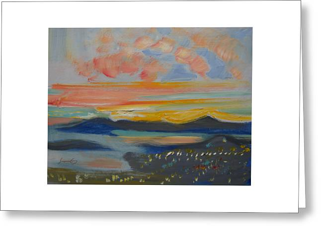 Marin County Greeting Cards - First Sunset April Greeting Card by Suzanne Giuriati-Cerny