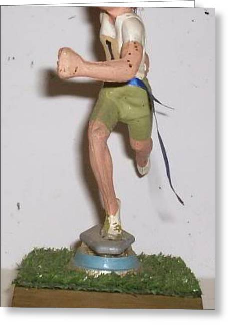Sport Sculptures Greeting Cards - First Greeting Card by William Douglas