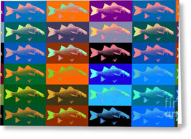 Abstract Expressionist Greeting Cards - Fish 38 Greeting Card by Flo Ryan