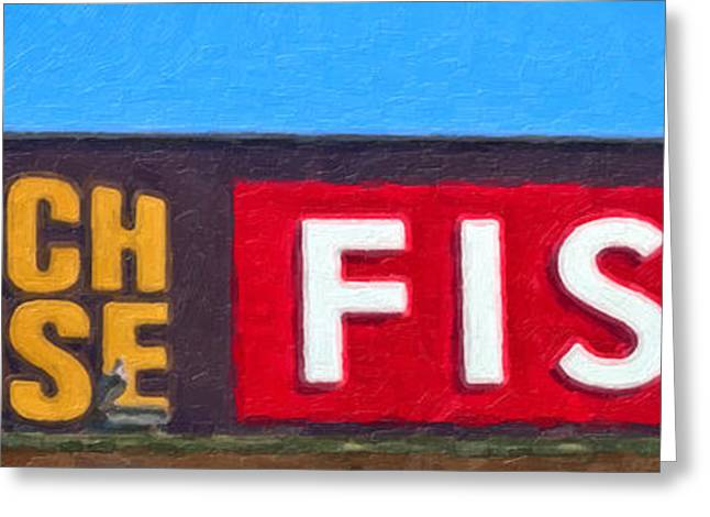 Fish Digital Greeting Cards - Fish at the Beach House Greeting Card by David Millenheft