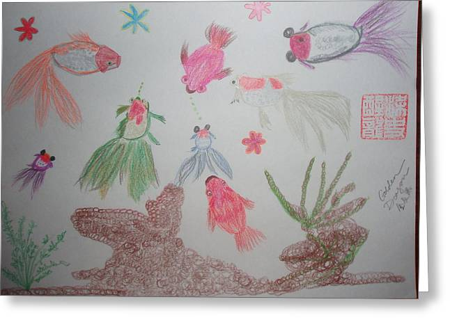 Star Fish Drawings Greeting Cards - Fish do not lie Greeting Card by Golden Dragon