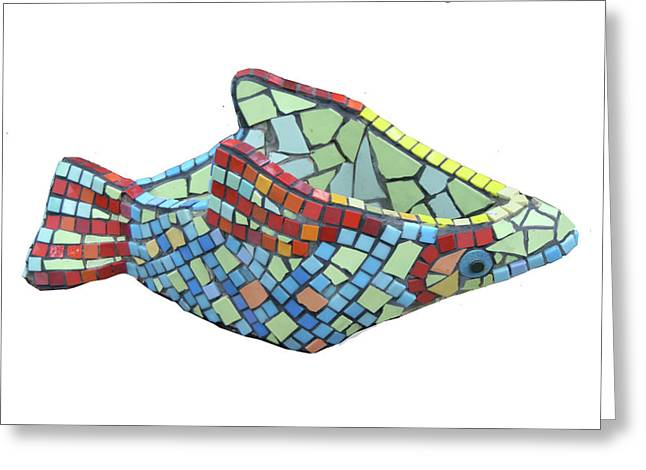 Decorative Fish Sculptures Greeting Cards - Fish Greeting Card by Katia Weyher