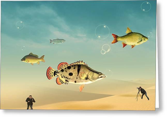 Spa Wall Decor Greeting Cards - Fish Life  Greeting Card by Mark Ashkenazi