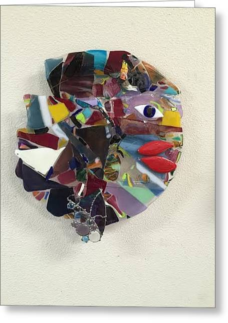 Wall-hanging Glass Greeting Cards - Fish Lips Greeting Card by Marilyn Catlow