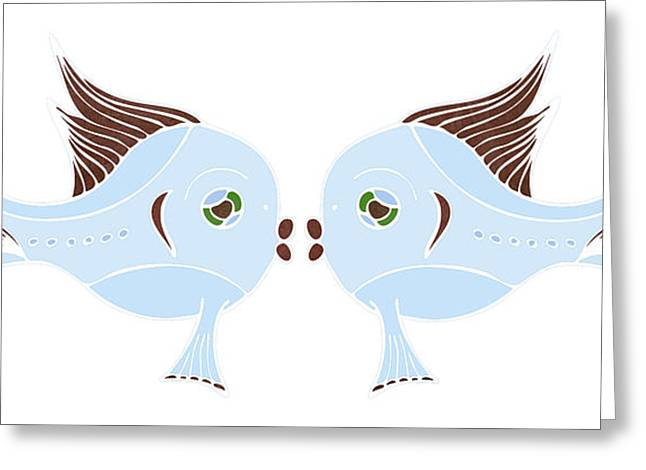 Fish Lovers Greeting Card by Frank Tschakert