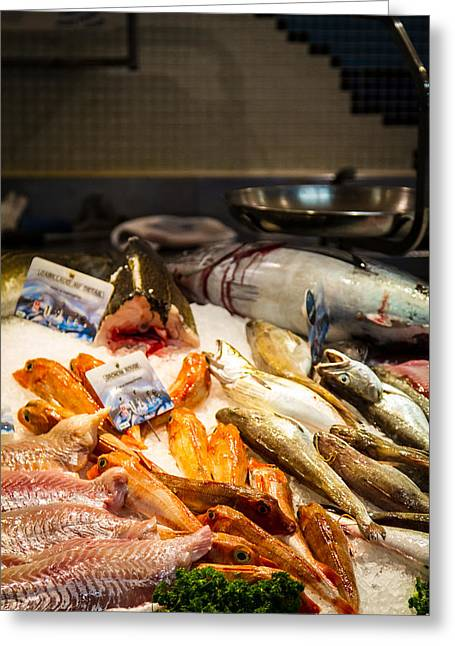 Grocery Store Greeting Cards - Fish Market Greeting Card by Jason Smith