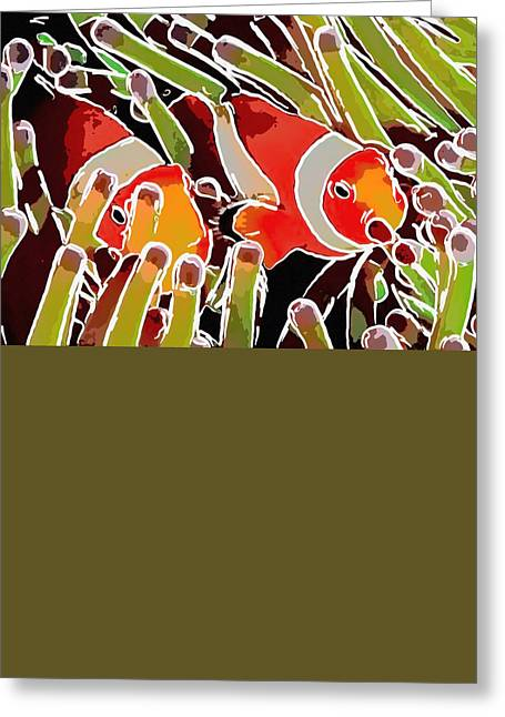 Tourism Greeting Cards - Fish on the coral reef Greeting Card by Lanjee Chee