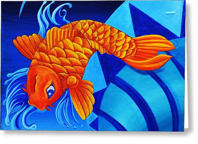 Fish Splash Greeting Card by Stephen Humphries