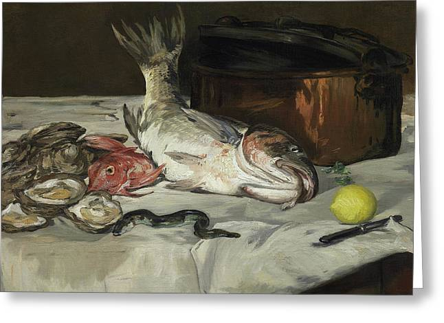 Fish Still Life Greeting Card by Edouard Manet