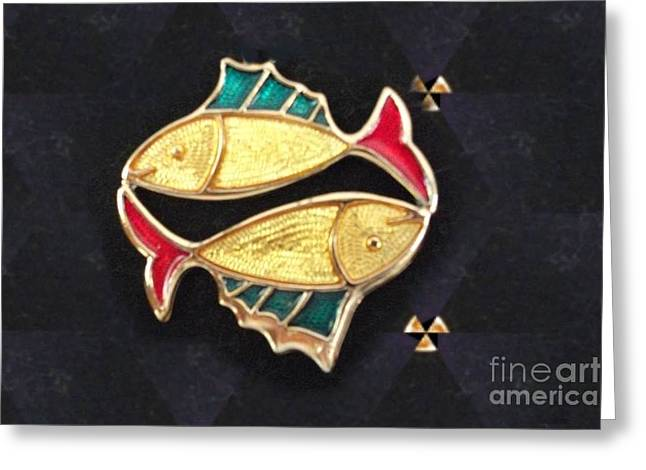 Gold Necklace Greeting Cards - Fish Tale Greeting Card by Jacquie King