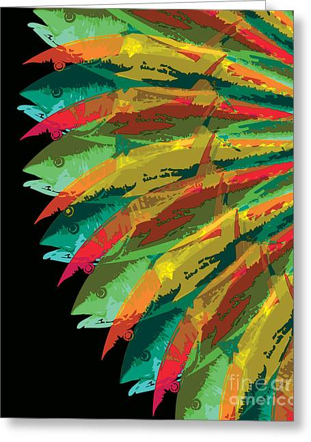 Fish Digital Greeting Cards - Fish Vortex, Ultra Greeting Card by Kevin McCalley