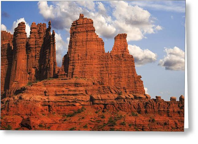 Monolith Greeting Cards - Fisher Towers Greeting Card by Utah Images