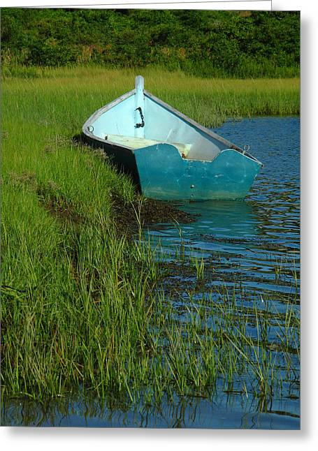 Fishing Creek Greeting Cards - Fisherman Boat Greeting Card by Juergen Roth