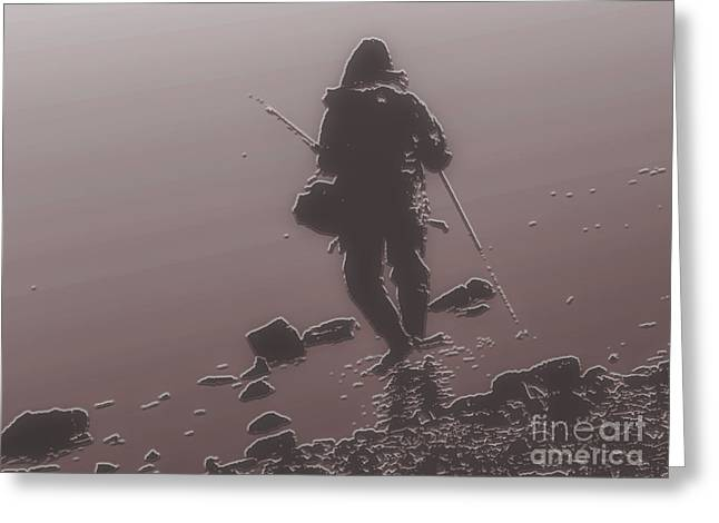 Bedroom Art Greeting Cards - Fisherman Greeting Card by Charlie Cliques