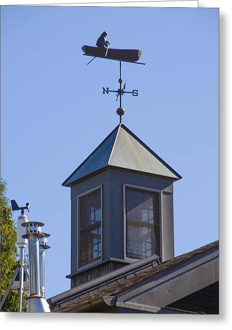 Row Boat Greeting Cards - Fisherman Weather Vane Greeting Card by Bill Cannon